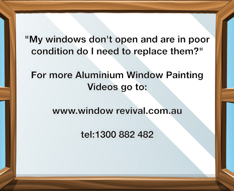 window restoration, aluminium window painting, windows difficult to open