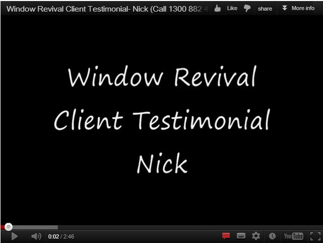 Window revival's window restoration client - window restoration gold coast and aluminium window painting