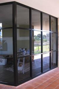 Aluminium Window Painting - Bond University (After)