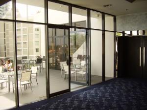 aluminium window painting - Holiday Inn (After)